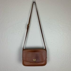Vintage Coach Leather Crossbody Purse Brown